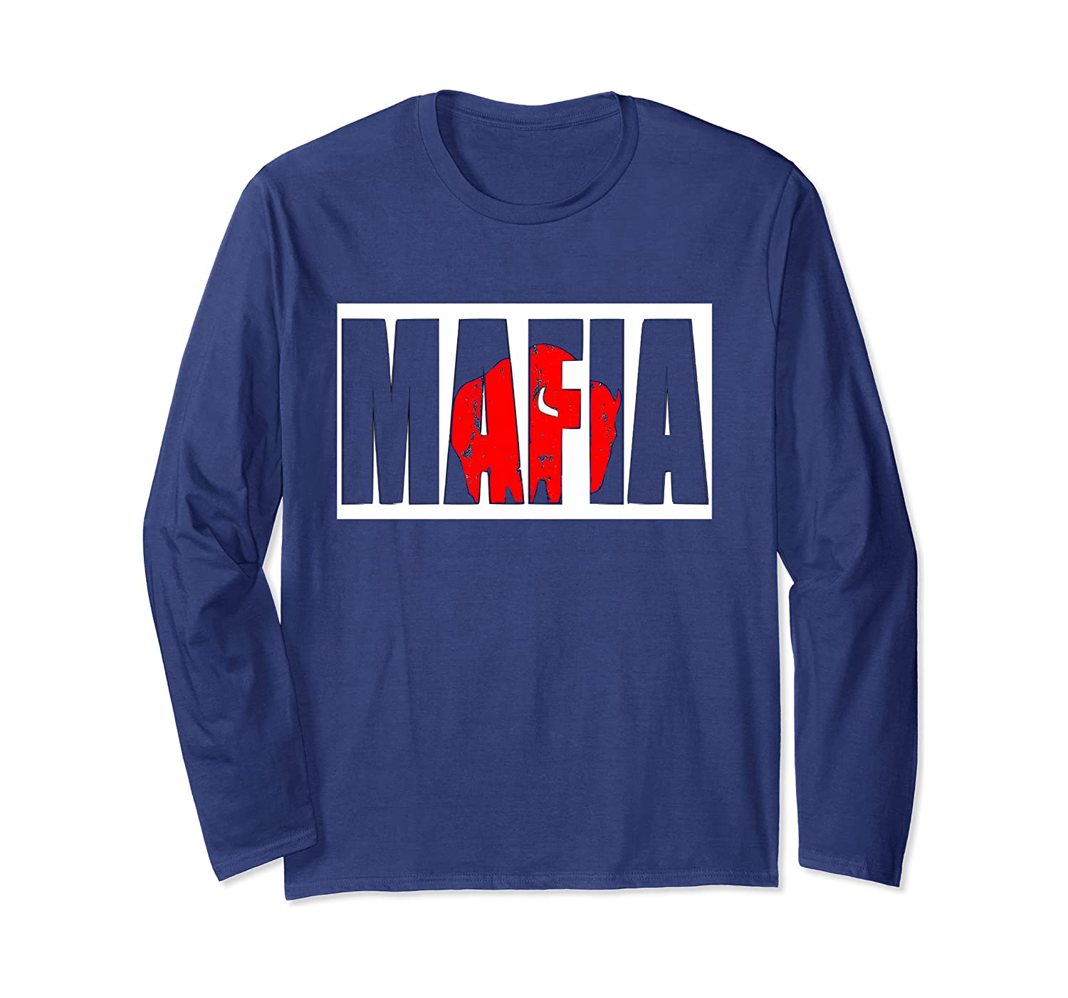 Bills Mafia Tee Buffalo Football Fan Vintage Long Sleeve T-shirt