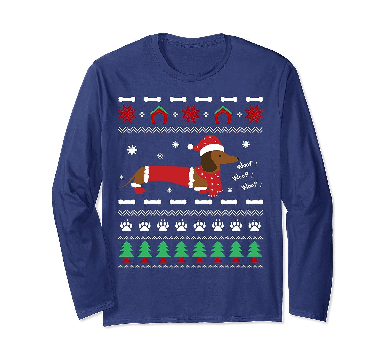 Merry Woofmas – Christmas Dachshund Dog Long Sleeve T-Shirt