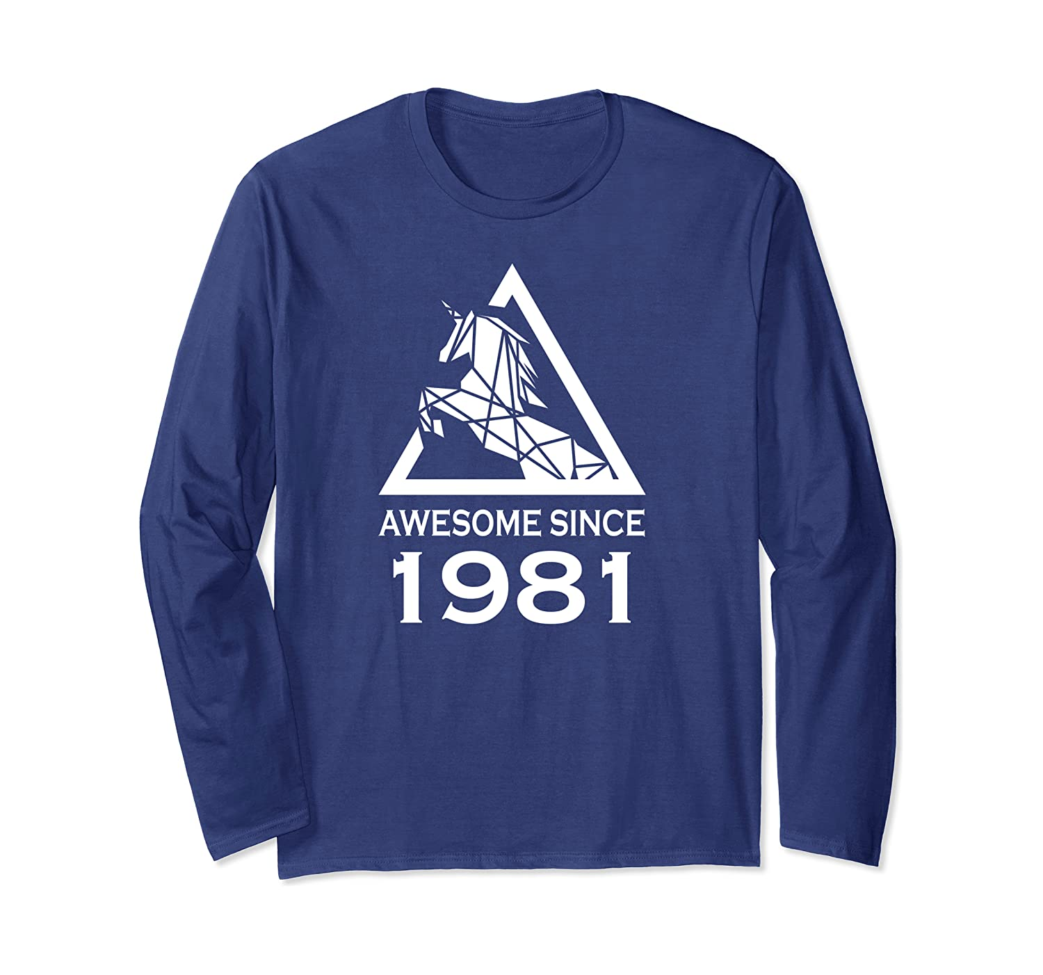 Awesome Since 1981 Unicorn Birthday Long Sleeve T-Shirt