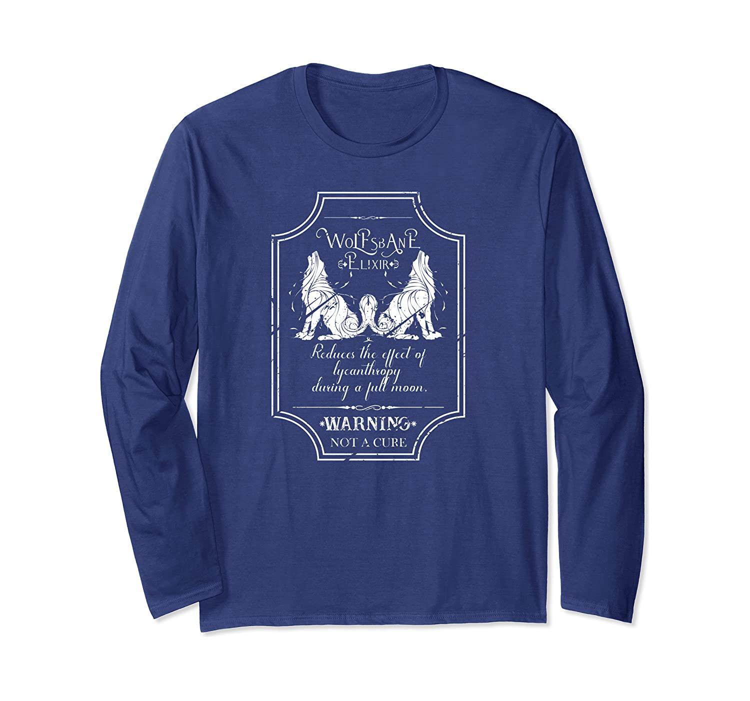 Wolfsbane Elixir Werewolf Halloween Long Sleeve T-Shirt-SFS