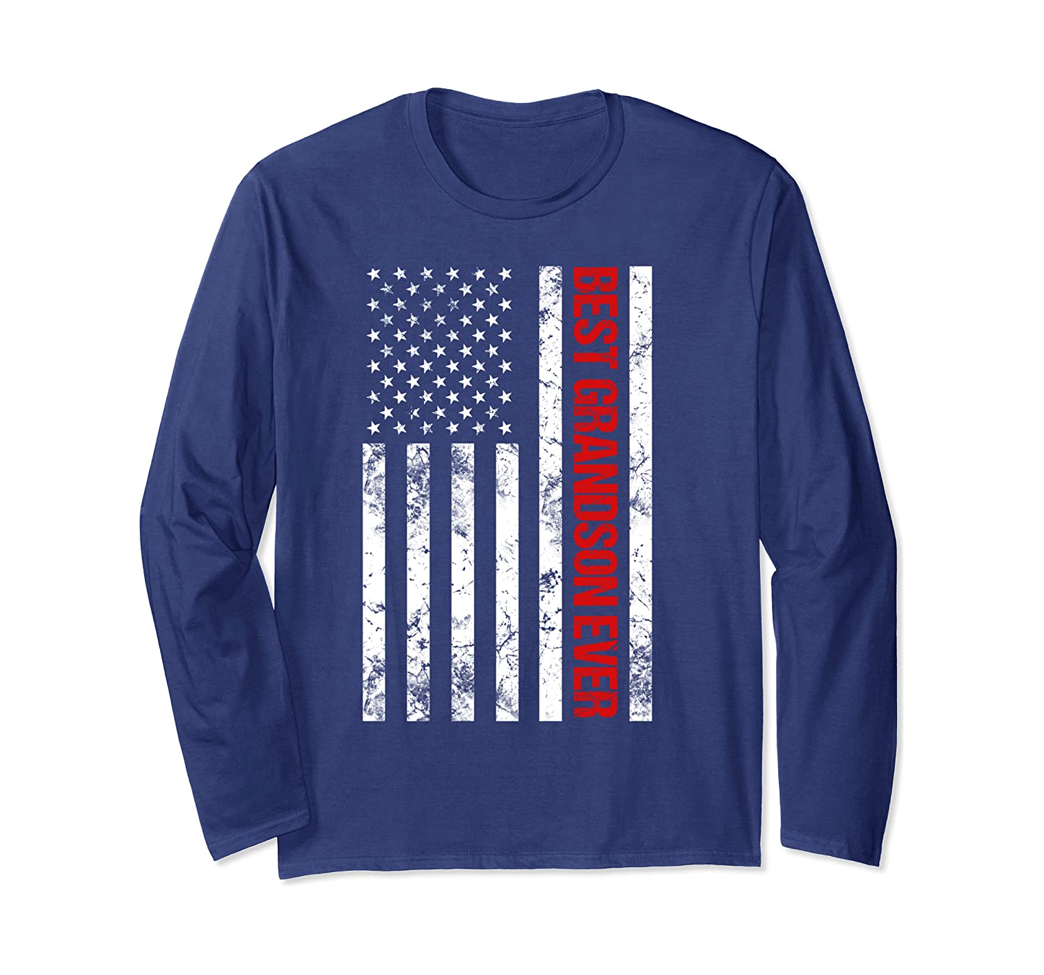Patriotic Best Grandson Ever Long Sleeve T-Shirt