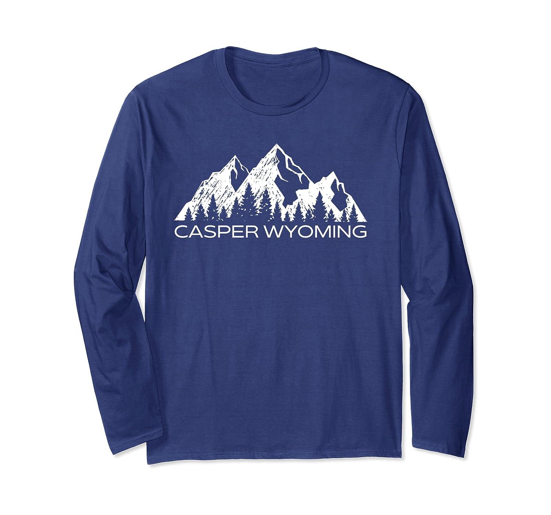 Casper Wyoming Mountain Souvenir Gift  Cool Casper Wyoming Long Sleeve T-Shirt