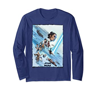 Amazon Com Star Wars The Rise Of Skywalker Rey Poster Long Sleeve T Shirt Clothing