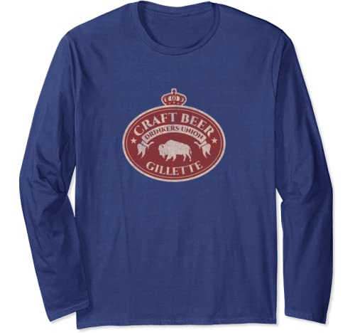 Craft Beer Drinkers Union   Gillette Wyoming Long Sleeve T Shirt