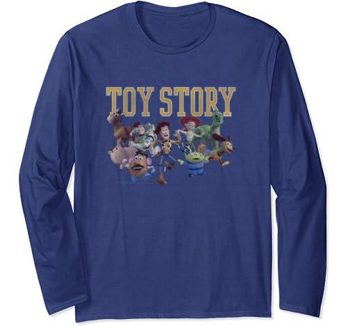 Disney Pixar Toy Story Group Shot Run Long Sleeve T Shirt
