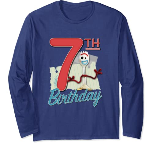 Disney Pixar Toy Story 4 Forky 7th Birthday Long Sleeve T Shirt