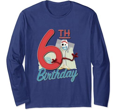 Disney Pixar Toy Story 4 Forky 6th Birthday Long Sleeve T Shirt