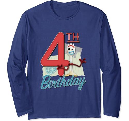 Disney Pixar Toy Story 4 Forky 4th Birthday Long Sleeve T Shirt