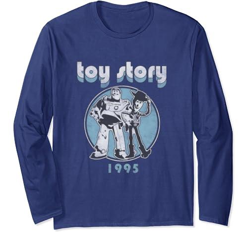 Disney Pixar Toy Story Buzz & Woody Retro Long Sleeve T Shirt
