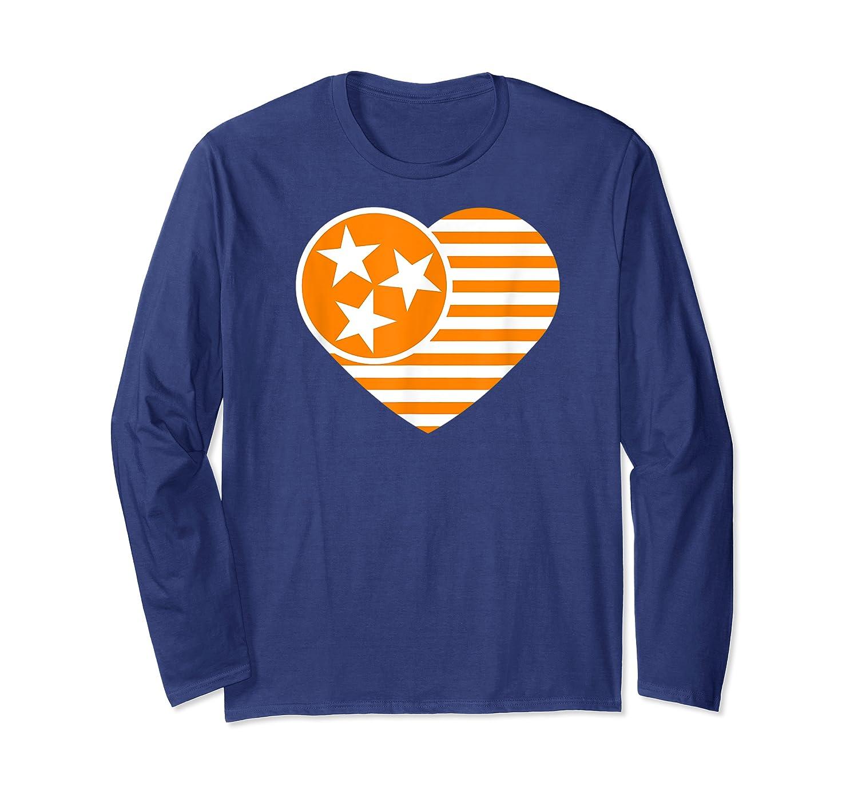 Tennessee Flag Shirt Vintage Distressed Usa Heart T Shirt Long Sleeve T-shirt