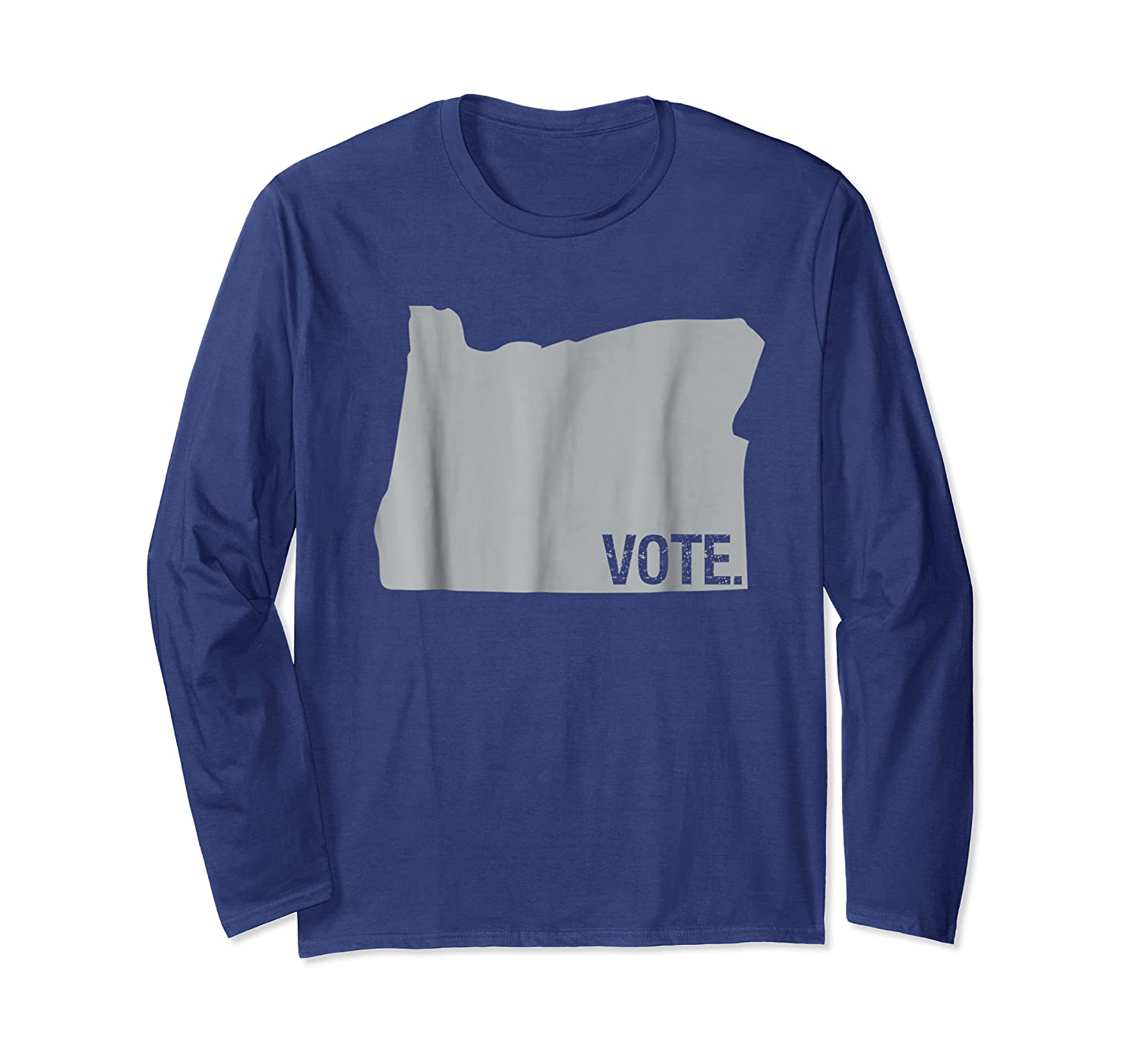 Vote Oregon Election Day State Distressed Shirt Long Sleeve T-shirt