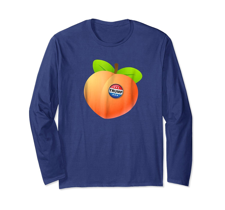 Impeach Trump Peach With Trump Button Anti Trump T Shirt Long Sleeve T-shirt