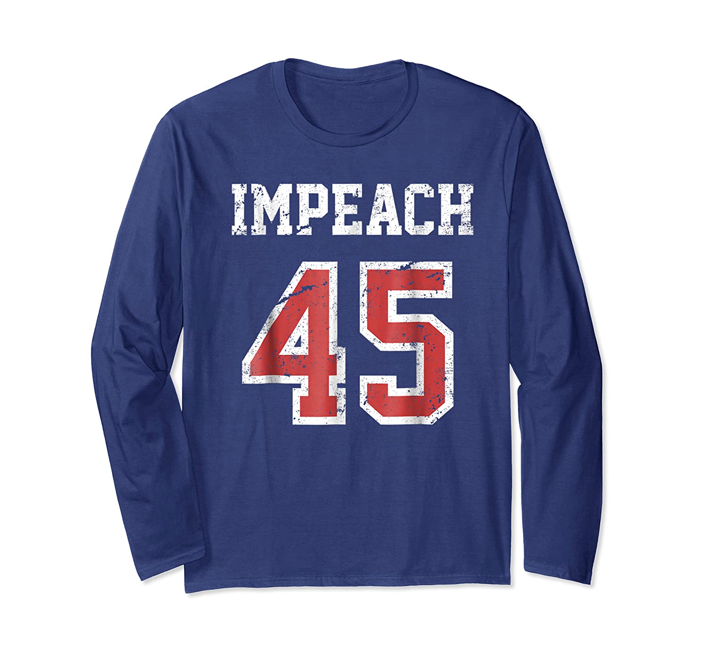 Impeach 45 T Shirt Team Impeach Trump Vintage Long Sleeve T-shirt