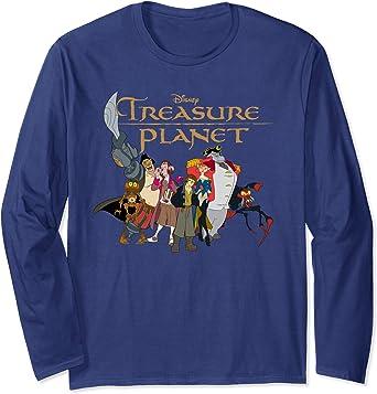 Disney Treasure Planet Logo and Characters Manche Longue