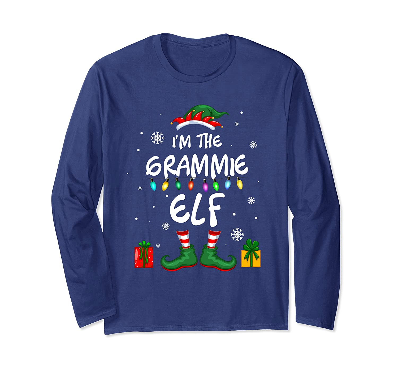 I'm The Grammie Elf Family Matching Funny Christmas Gift Long Sleeve T-Shirt-Awarplus