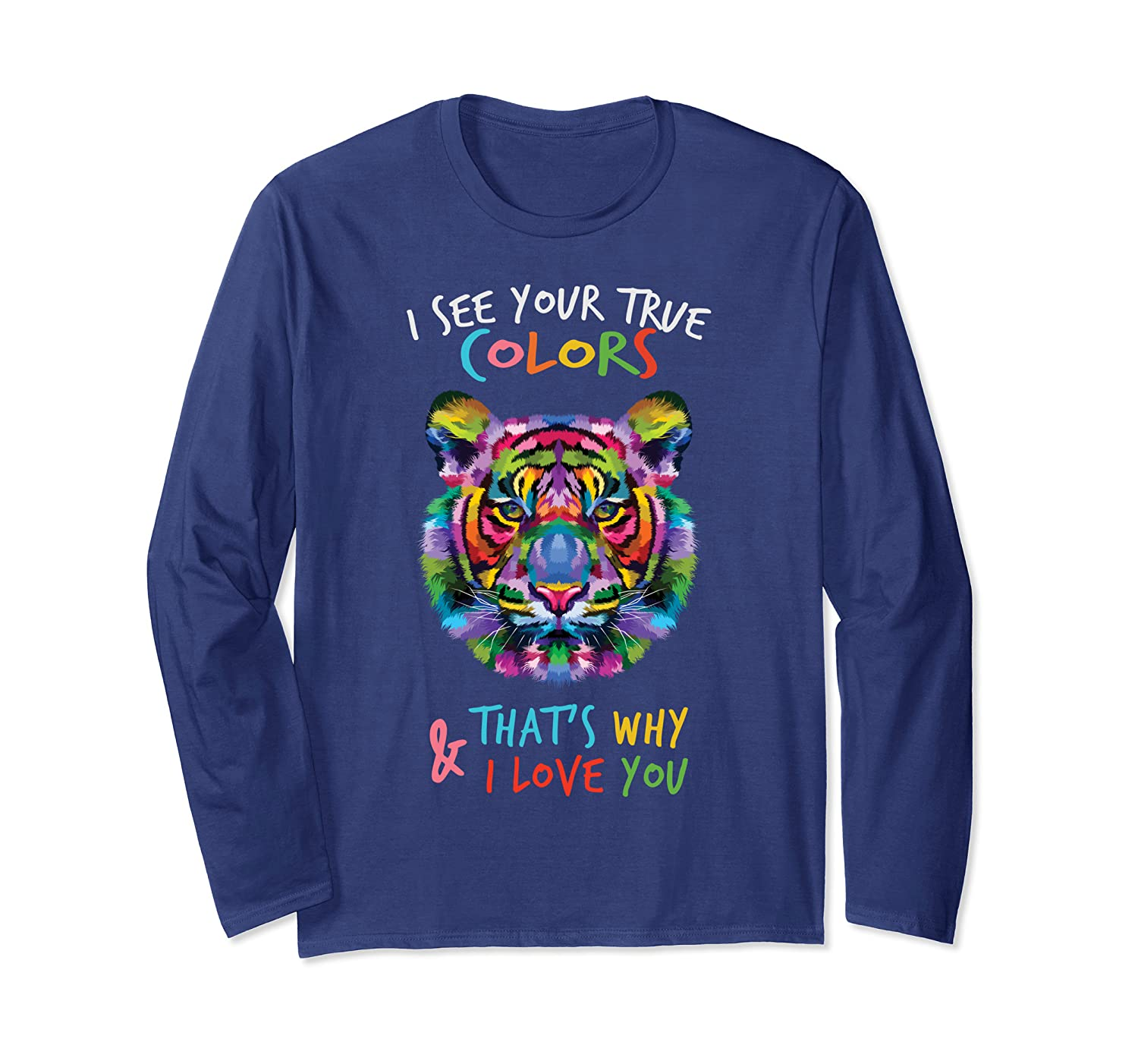 Autism Awareness fathering It's OK to be different Tiger Long Sleeve T-Shirt-TH