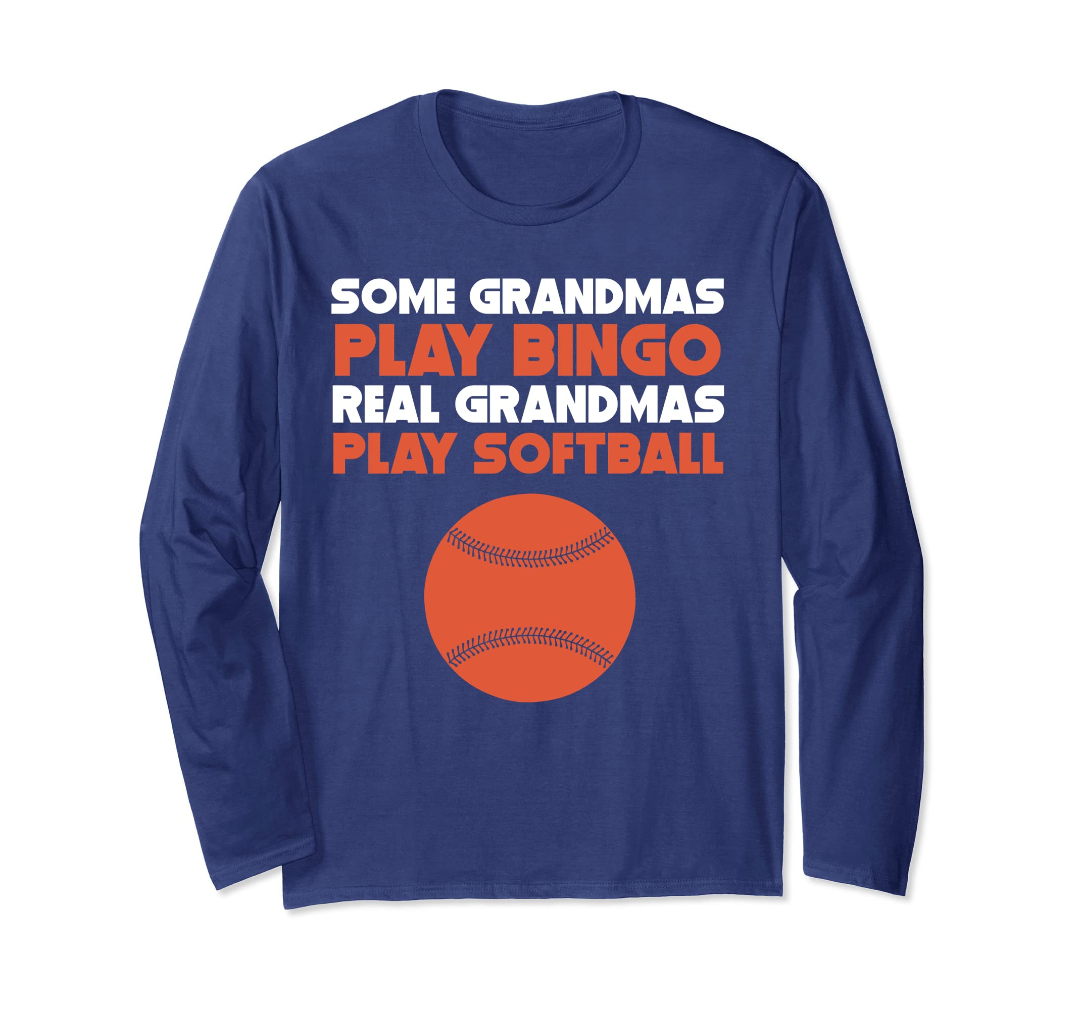 Some Grandmas Play Bingo Real Grandmas Play Softball T-Shirt-ANZ