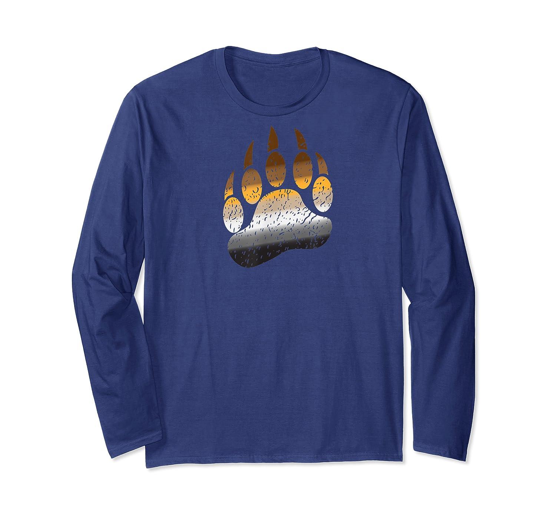 Gay Bear Paw Pride Tshirt Long Sleeve T-shirt