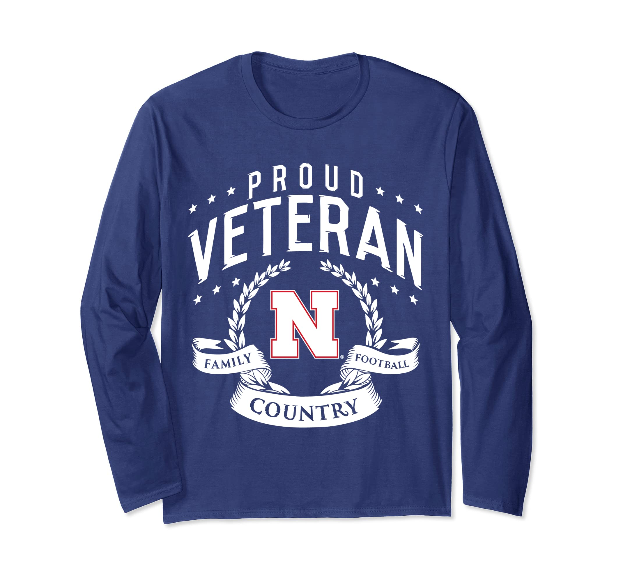 Nebraska Cornhuskers Proud Veteran Long Sleeve T-Shirt-SFL