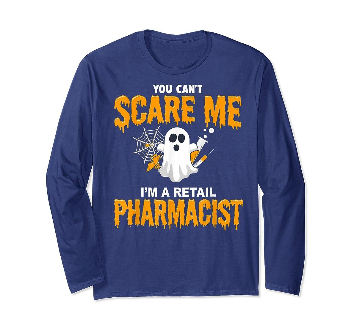 Halloween Costume Shirt I'm A Retail Pharmacist T-Shirt-Long Sleeve-Navy