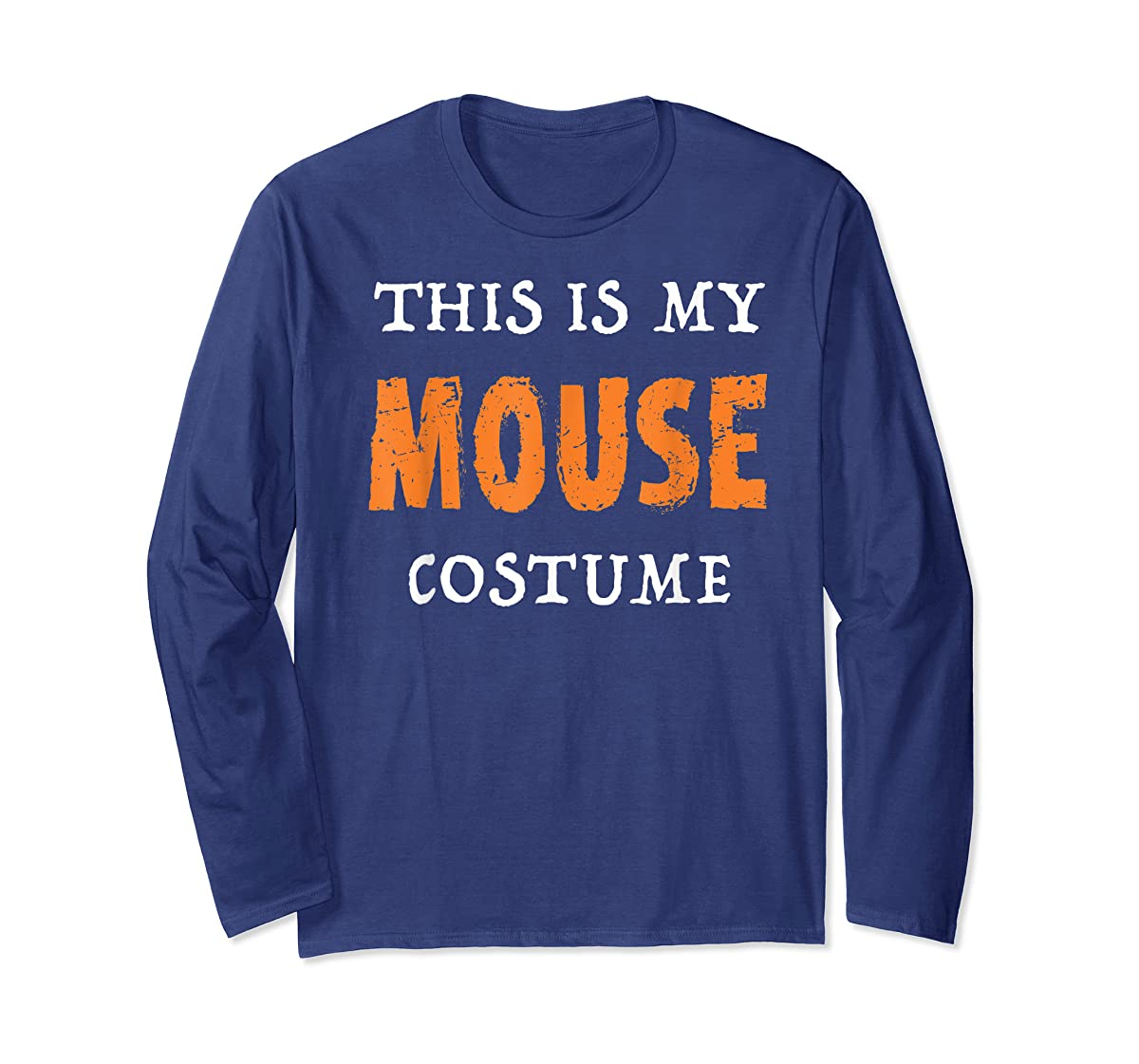 Funny This Is My Mouse Costume Halloween  T-Shirt-Long Sleeve-Navy