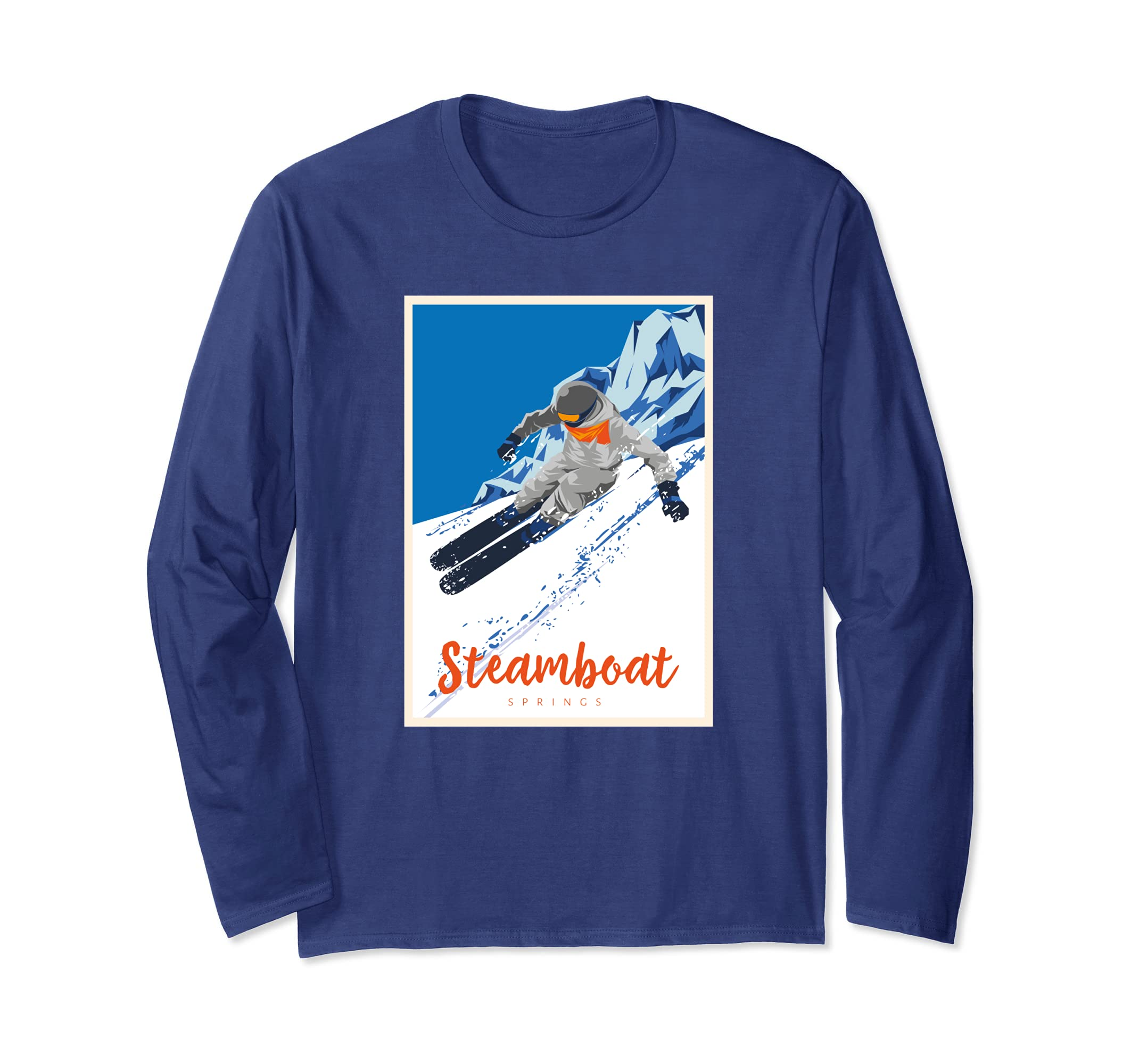 b679ce981f Amazon.com  Skiing Shirt Ski Resort Steamboat Springs CO Snow Gift Tee   Clothing