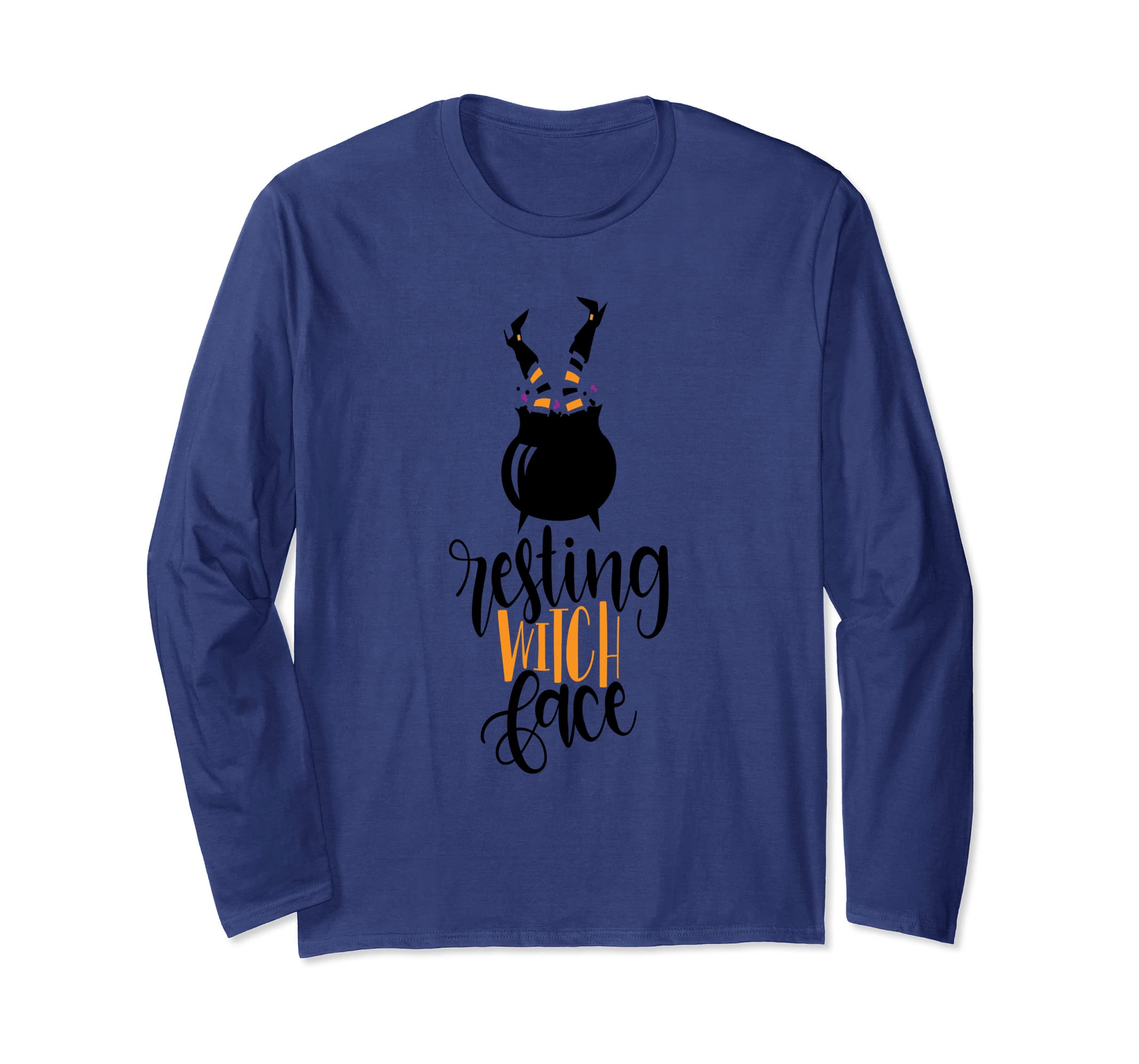Resting Witch Face Funny Halloween Long Sleeve Shirt-ANZ