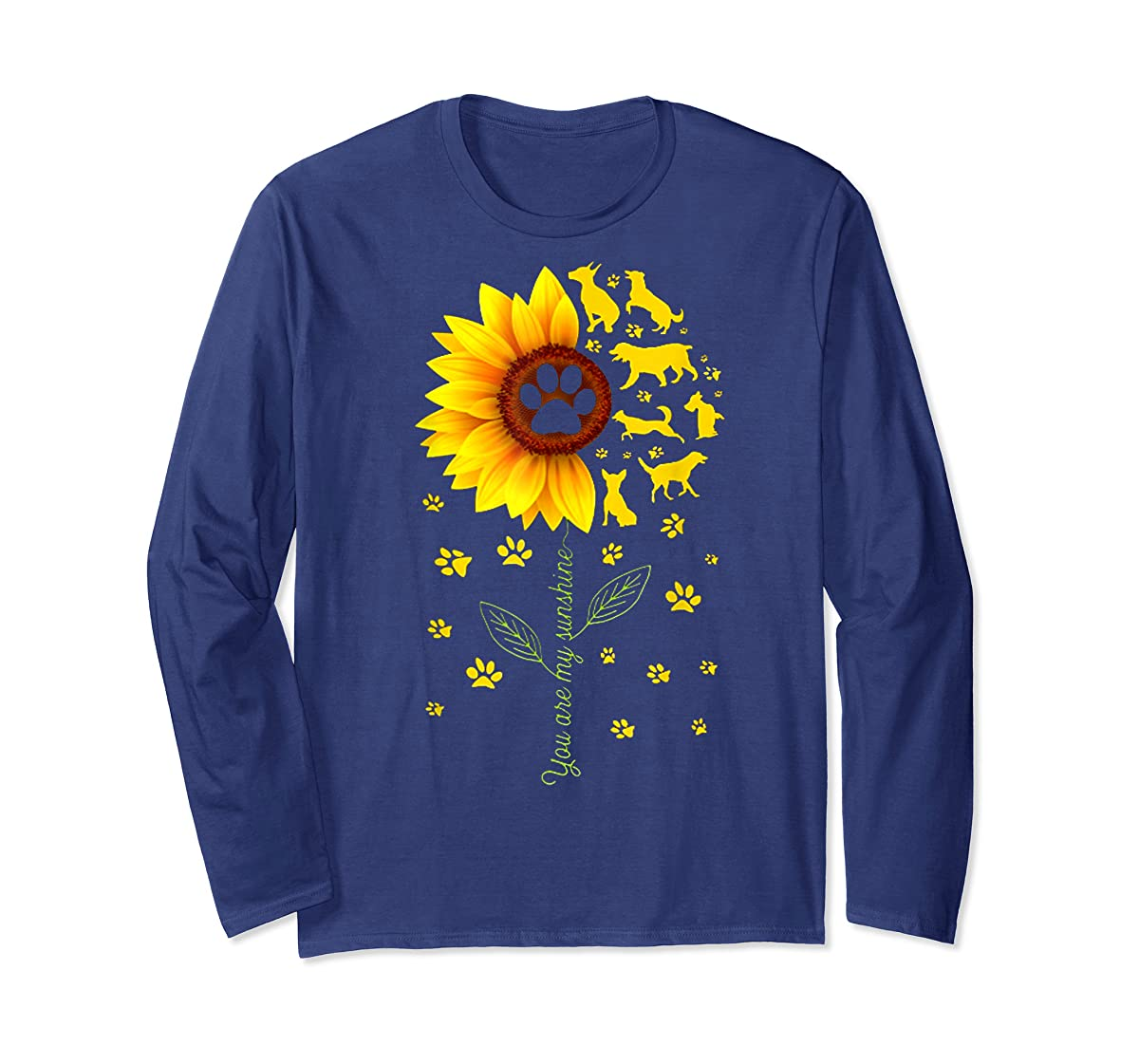 You are my Sunshine t-shirt-Long Sleeve-Navy