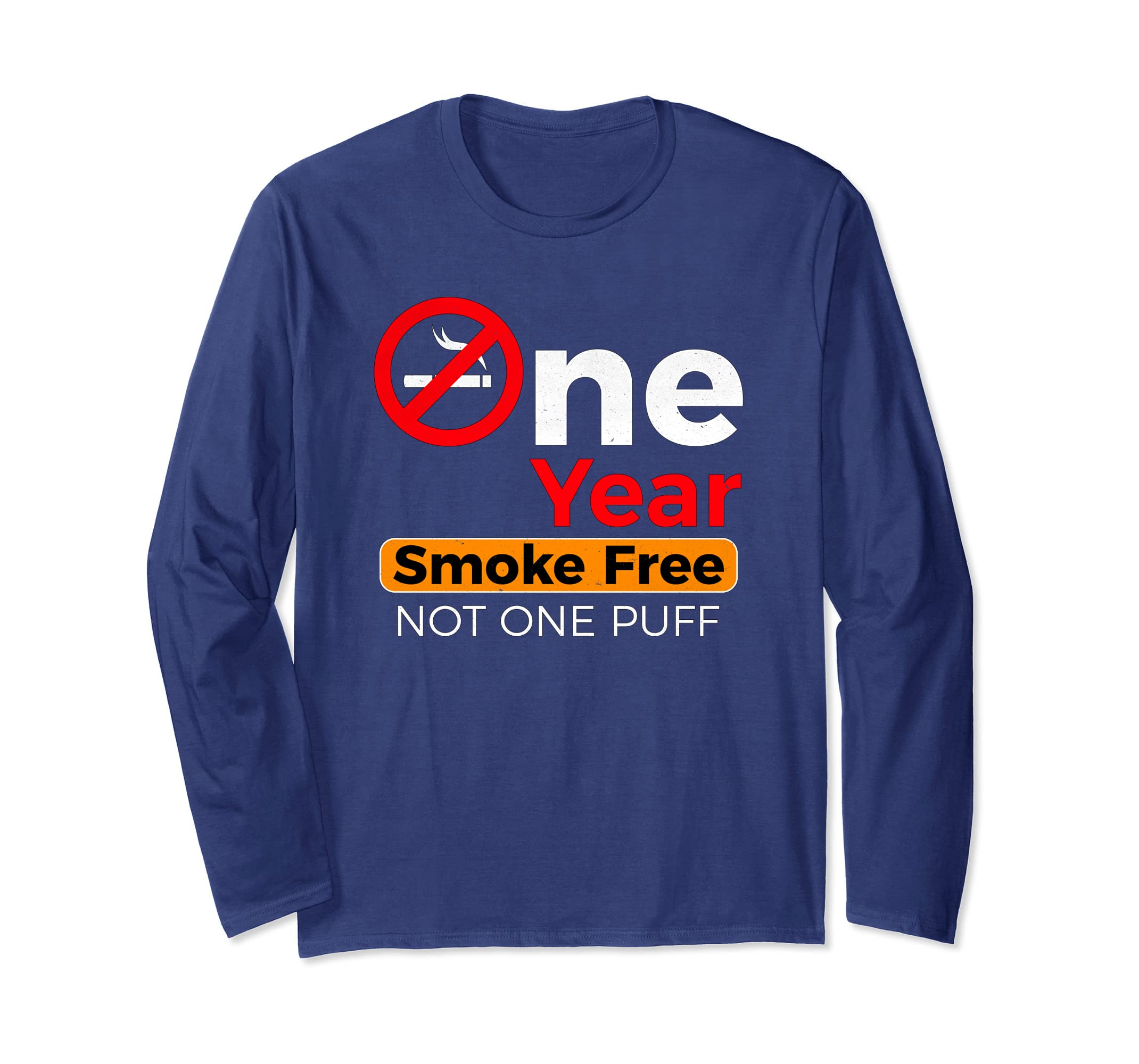 d10ad26079 Amazon.com: One Year No Smoking Anniversary Celebration Long Sleeve Tee:  Clothing