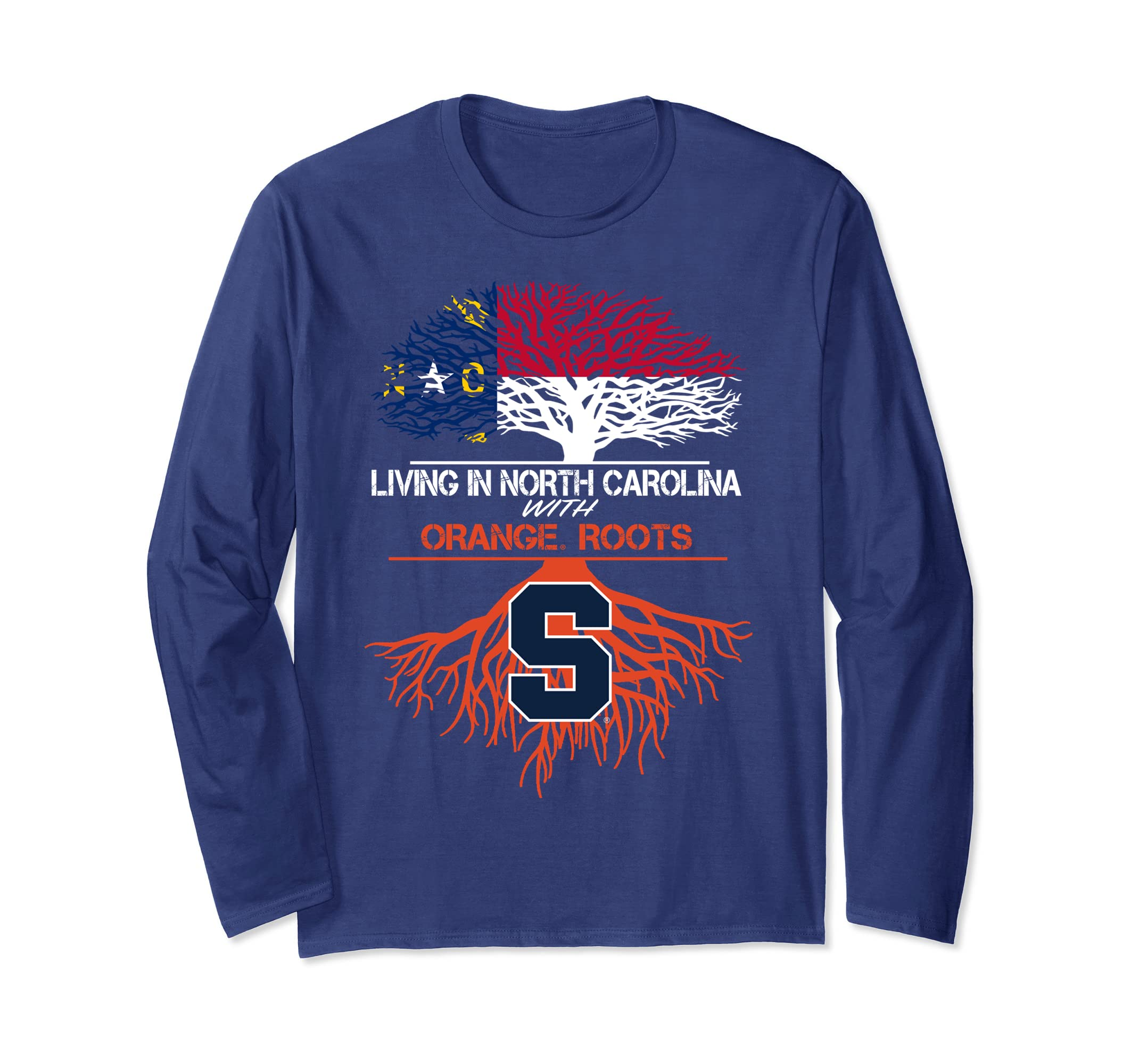 Syracuse Orange Living Roots Long Sleeve T-Shirt - Apparel-SFL