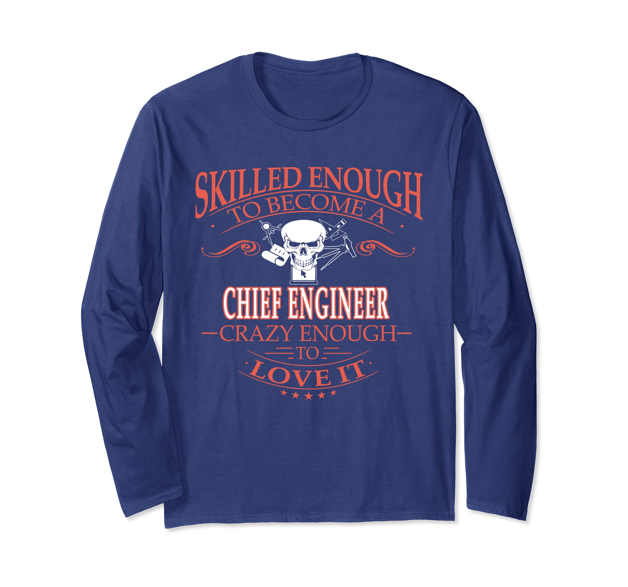 Amazon com: Chief engineer love it Long Sleeve Tee for young: Clothing