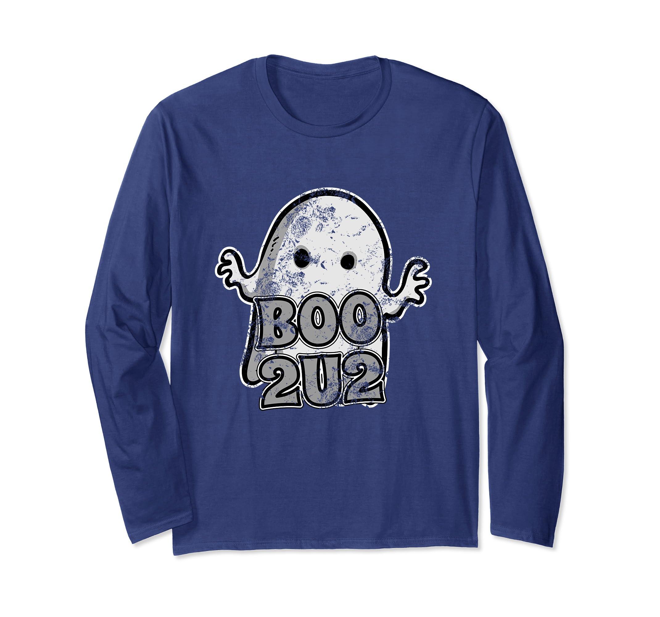 Boo 2U2-Cute Ghost Halloween Party Long Sleeve Shirt-Rose