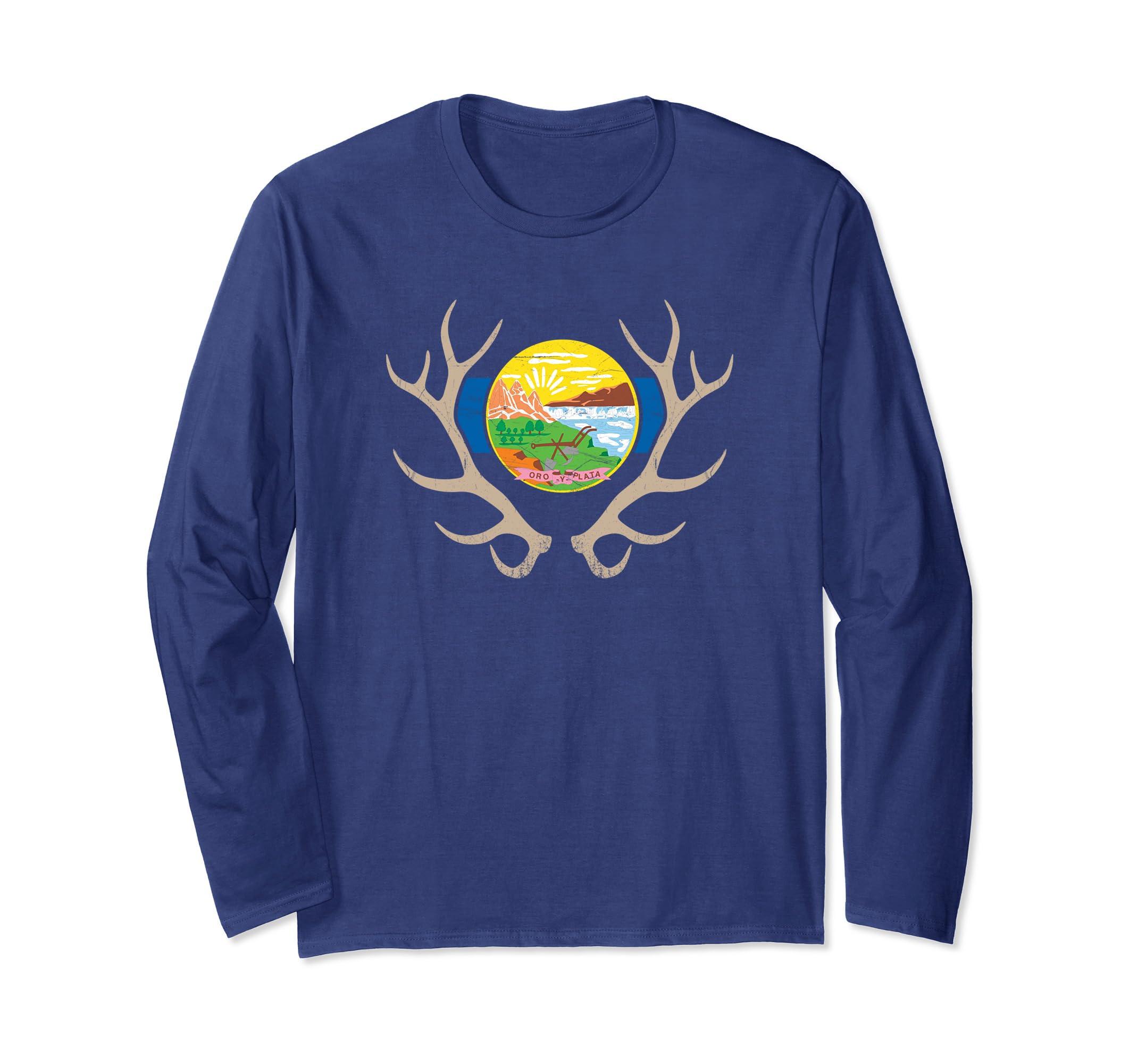 Amazon com: Montana Elk Hunt Long Sleeve Shirt - MT State