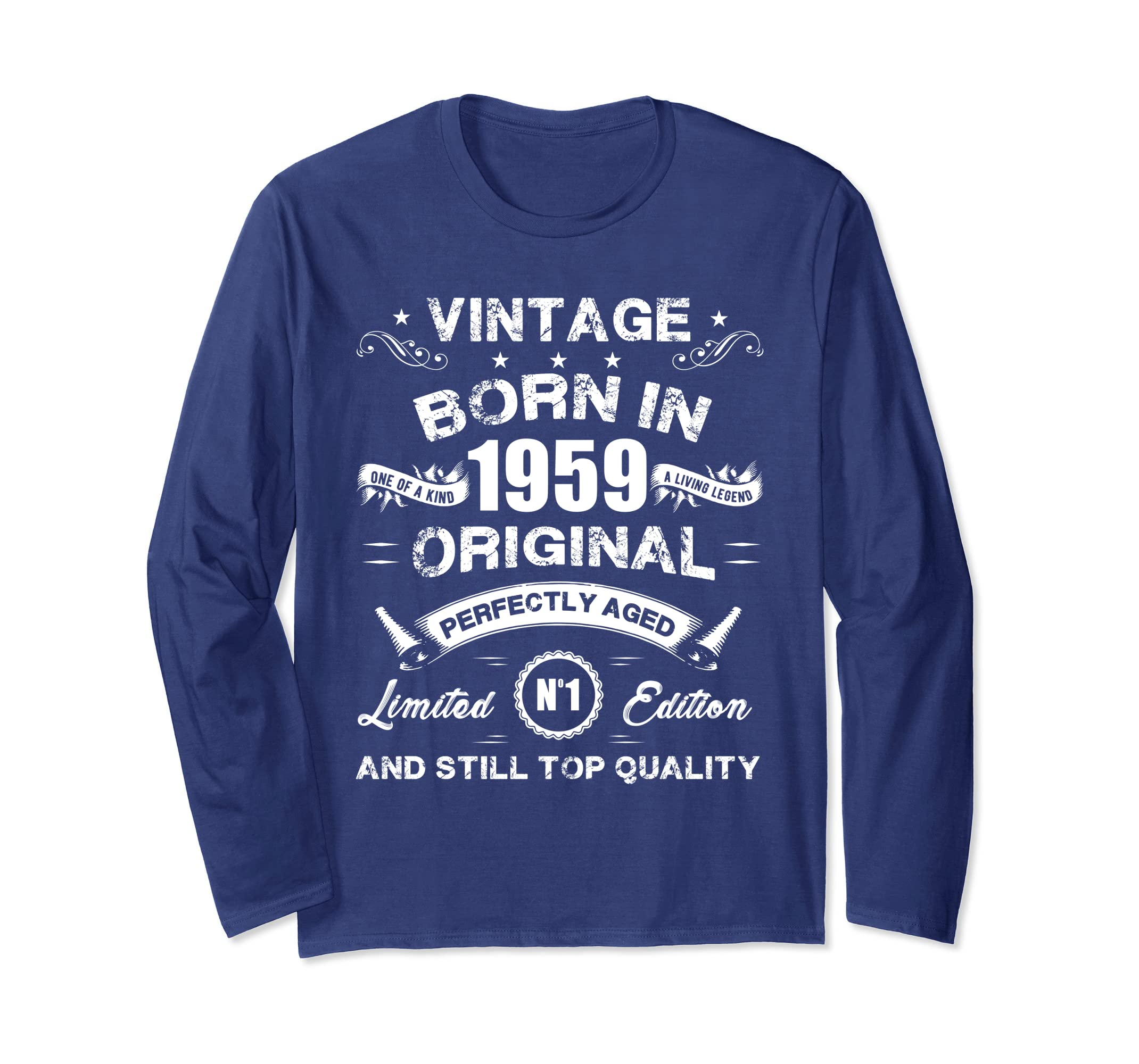 Amazon Made In 1959 Vintage 60th Birthday Long Sleeve Shirt Gift L3 Clothing