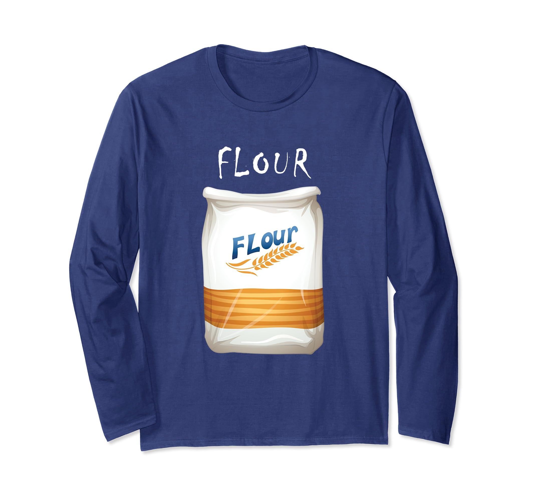 Flour Halloween Costume Long Sleeve T shirt-Bawle