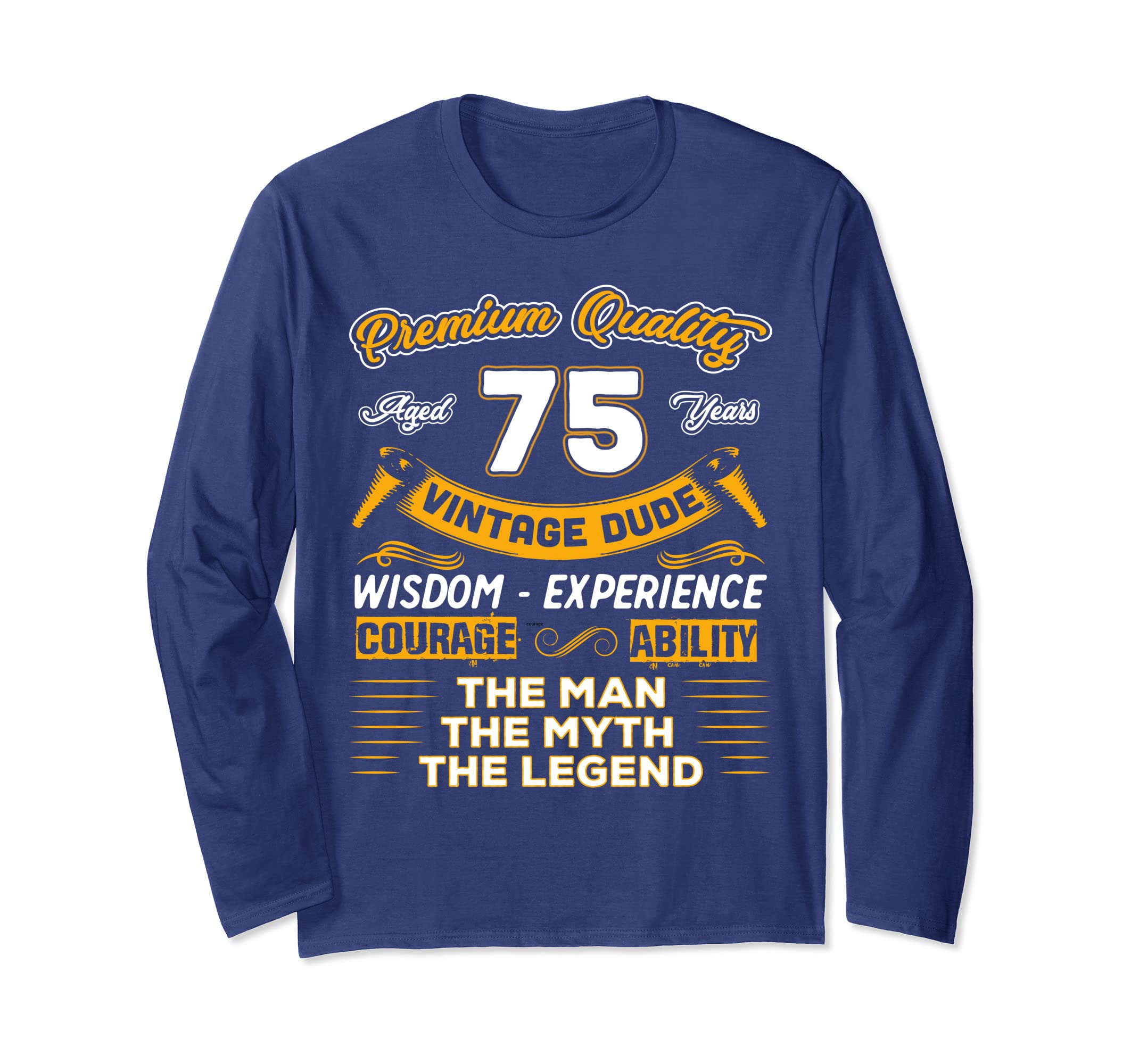 Amazon Gift For 75 Years Old Shirt 75th Vintage The Man Myth Legend Clothing