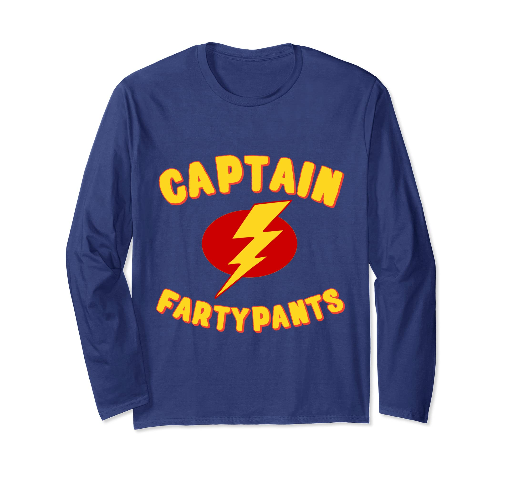f86e8c0ea Amazon.com: Captain Fartypants Funny Fart Long Sleeve T-Shirt: Clothing