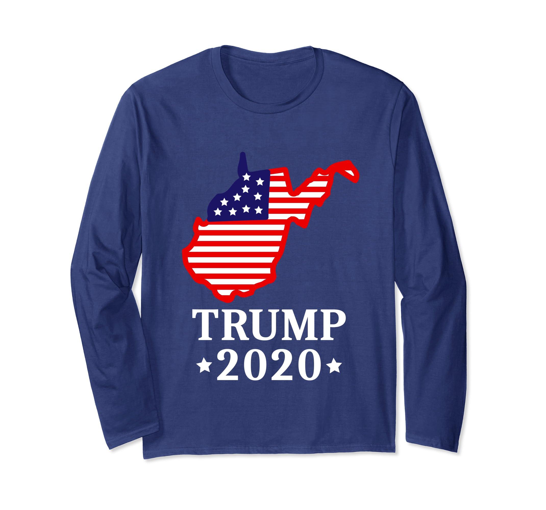 Amazon com: Trump 2020 Long Sleeve Tee West Virginia
