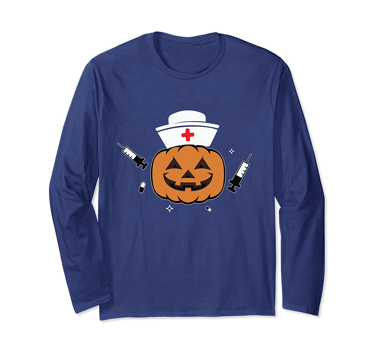 2bcf849c Amazon.com: Halloween Nurse Shirt Scary Pumpkin Hospital Night Party:  Clothing