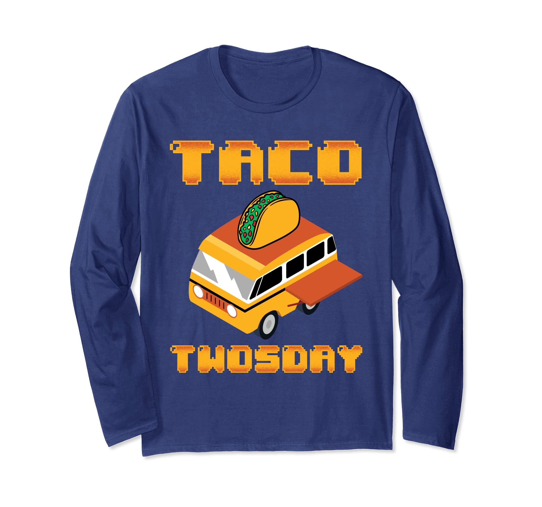 Tacos Shirt Funny Taco Twosday Yummy Pixel Design-azvn