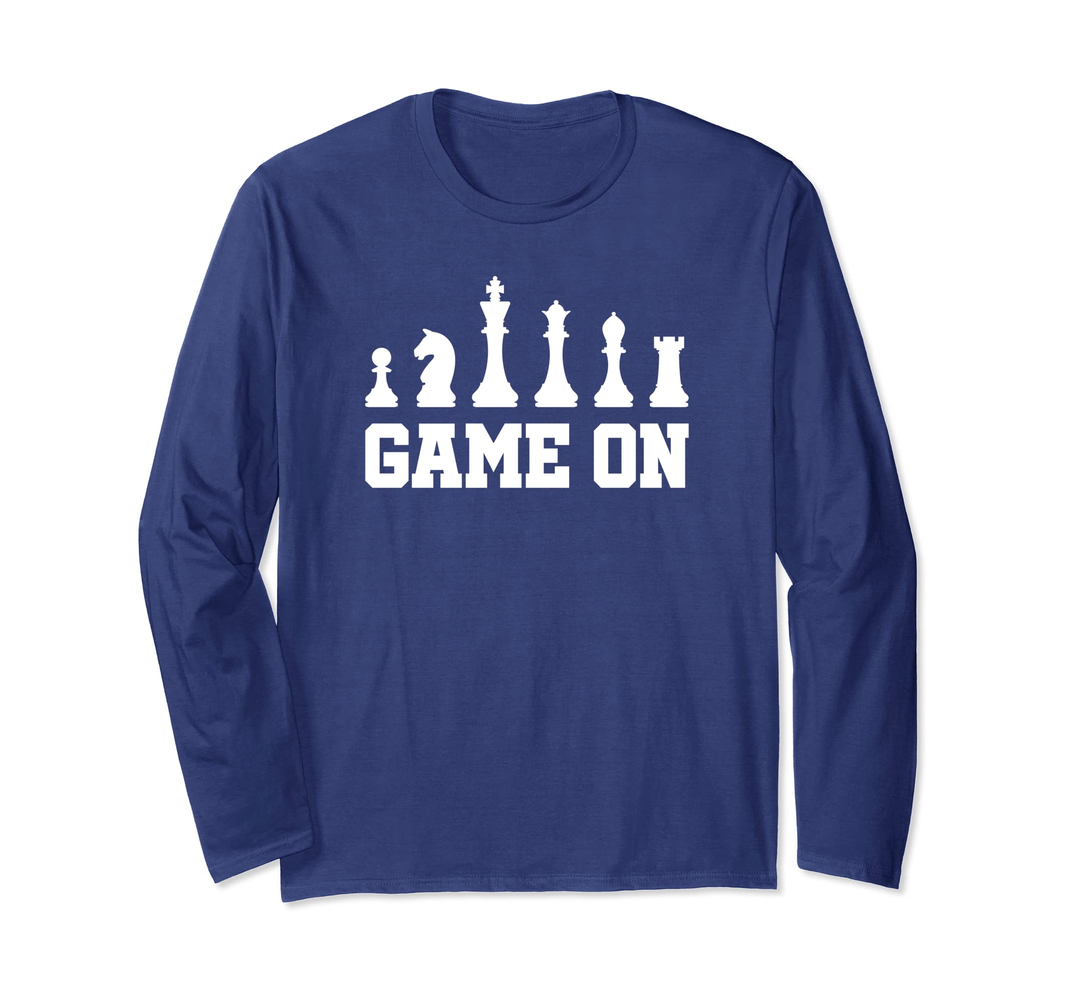2d5d10a883 Amazon.com: Long Sleeve Chess Player Tee Shirt: Clothing