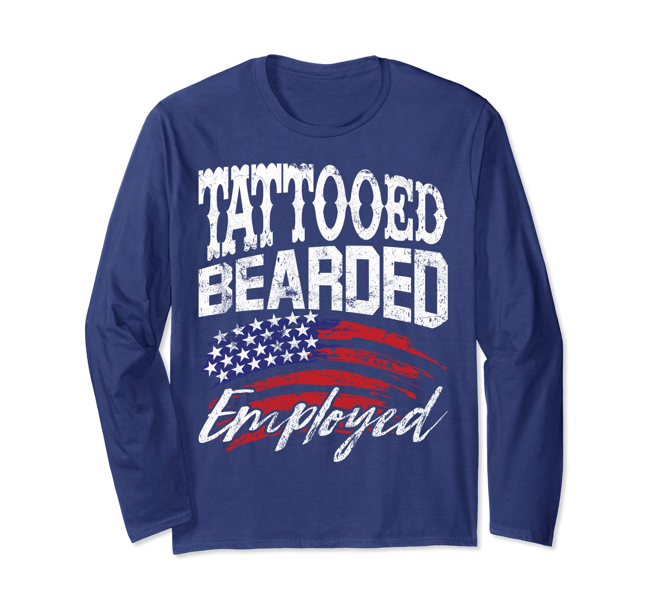 ebe97654691 Amazon.com  Tattooed Bearded Employed Vintage Tattoo Beard Long Sleeve   Clothing
