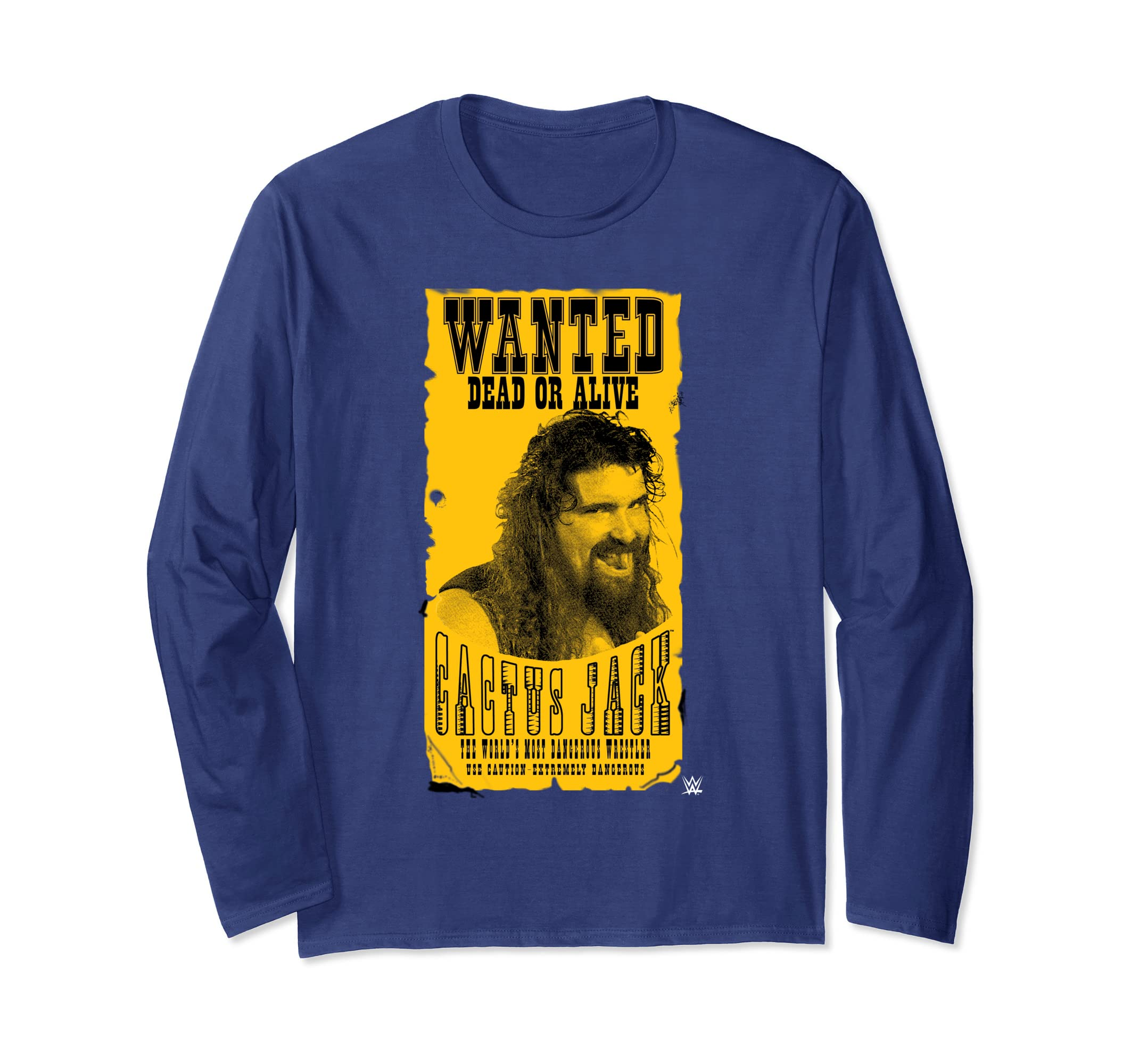 44b059009 Amazon.com: WWE Cactus Jack Wanted Dead Or Alive Long-Sleeve T-Shirt:  Clothing