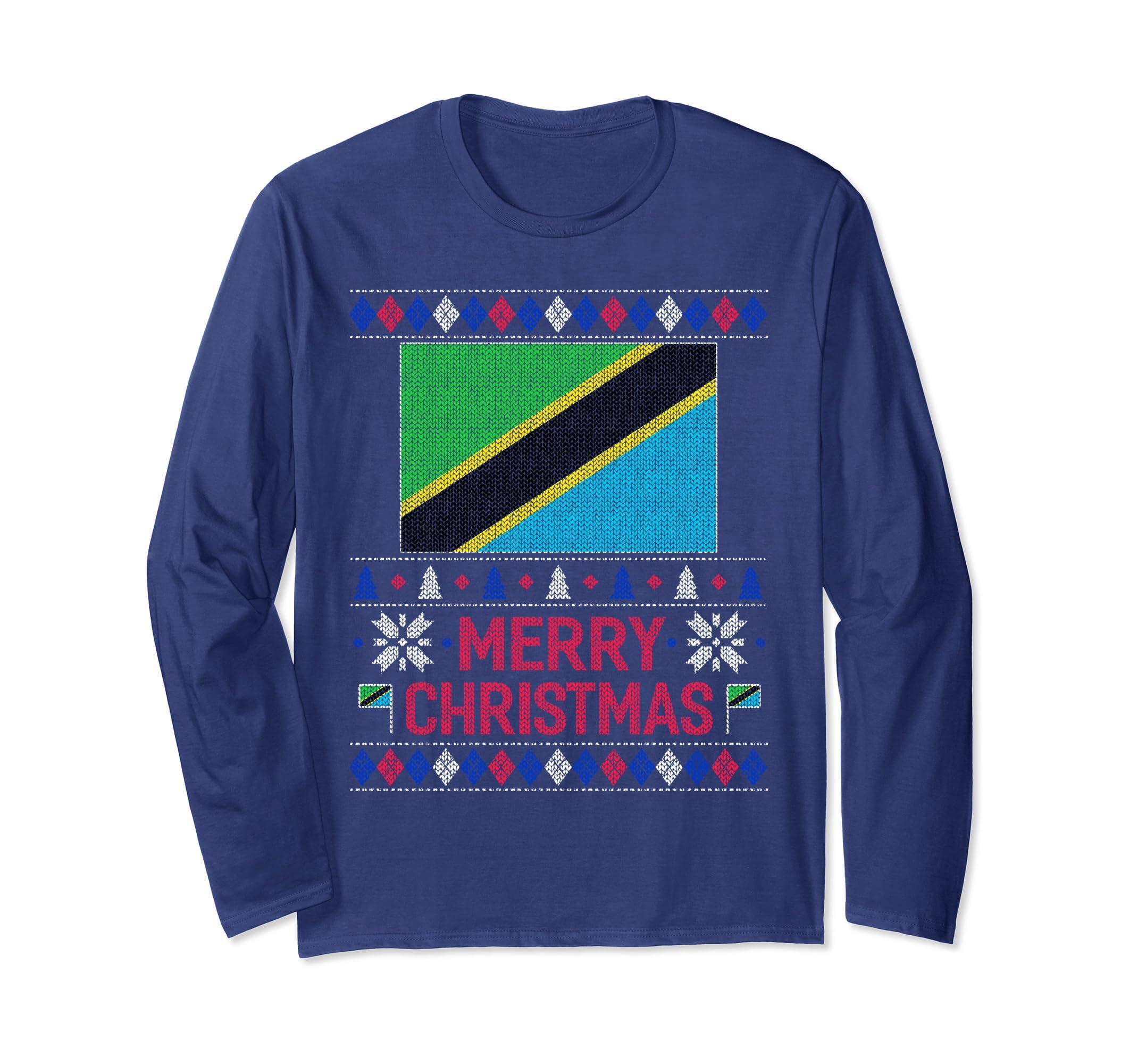 Ugly Christmas Tanzanian flag Shirt Tanzania-Bawle