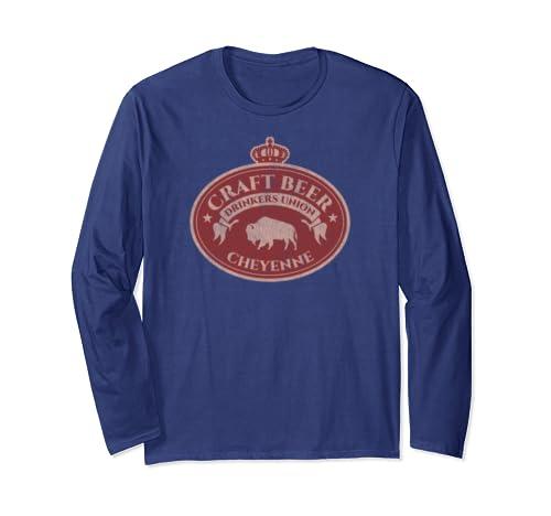 Craft Beer Drinkers Union   Cheyenne Wyoming Long Sleeve T Shirt