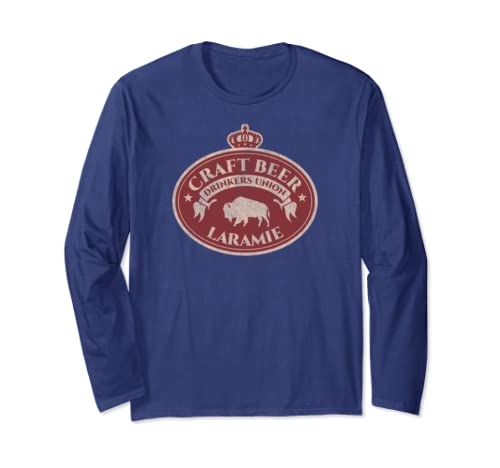 Craft Beer Drinkers Union   Laramie Wyoming Long Sleeve T Shirt