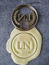 Emporte-pièce lauriers - Rond - Personnalisable avec initiales | Conçu et fabriqué en France