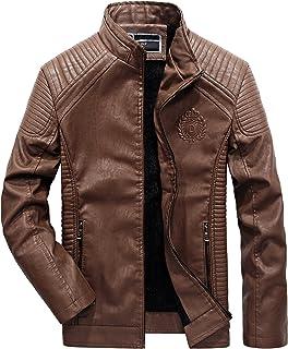Jet Blouson Veste Moto Cuir Homme Vintage avec Protection Homologu/é Classique R/étro Biker Iconique Capuche d/étachable Bronx Noir, M