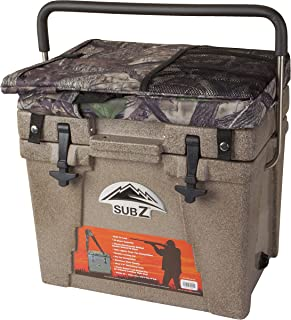 Sub Z 23 Quart Rotomolded Cooler with Seat, Tan