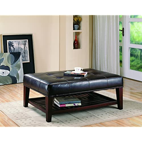 Leather Ottoman Coffee Tables Amazon Com